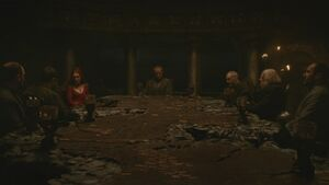 Stannis council painted table