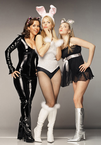 The Plastics in Halloween costumes