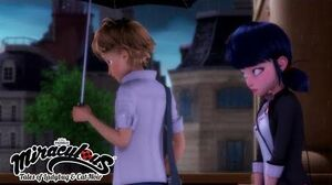 MIRACULOUS 🐞 Stoneheart - Origins Part 2 🐞 Ladybug and Cat Noir The umbrella scene