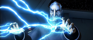 Count Dooku lightning attack