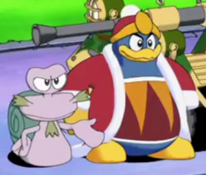 Dedede and escargoon seeing a ninja curio
