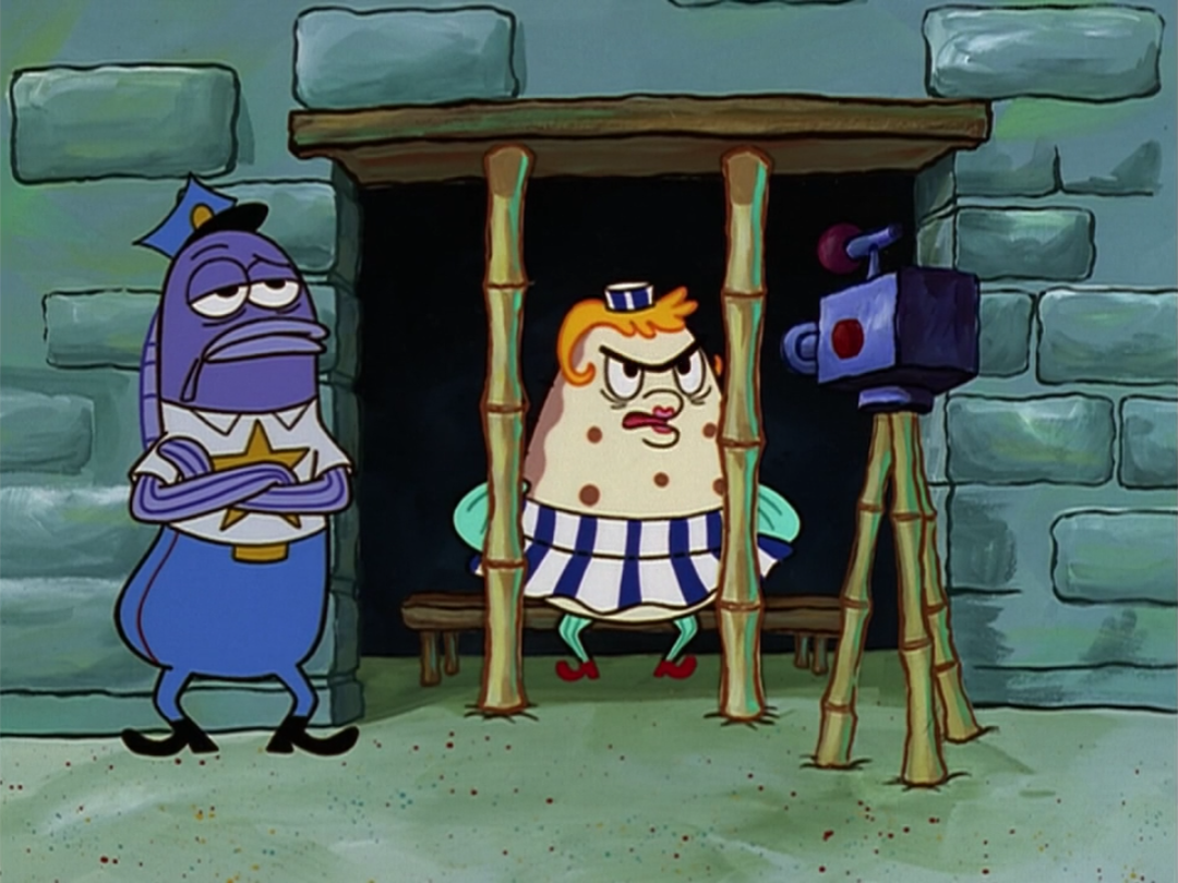 Uncategorized Mrs Puff image spongebob squarepants mrs puff in jail png villains png