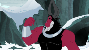 Lord Tirek looking at his big muscles S9E8