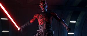 Maul confronts