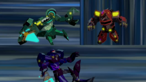 Clawtrap, Scatterspike and Paralon's defeat
