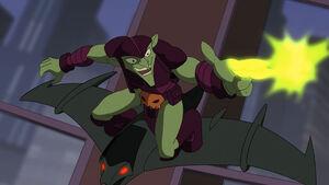 Green Goblin fires