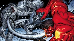 Red Hulk vs Wendigo 06