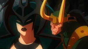 Loki tricks Hela