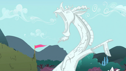 Statue of Discord cracking S2E01