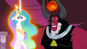 Tirek levitating Celestia S4E26