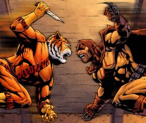 Bronze tiger vs Catman