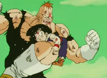 Roccome knees gohan in the stomach