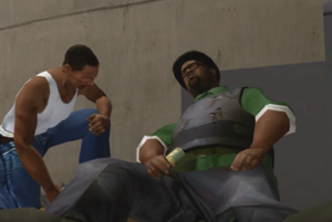 CJ with Big Smoke