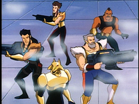 Disney-Gargoyles-Leader-of-the-Pack-pack-group-ready-with-guns