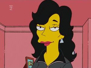 Julia in the simpsons house