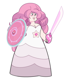 Rose Quartz - With Weapon