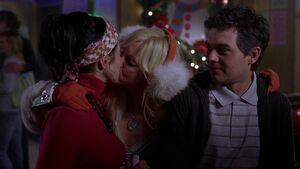 Samantha and Darla kissing (nice)
