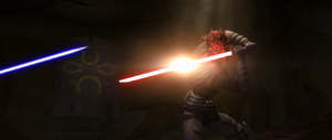 Darth Maul blocking