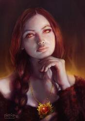 Melisandre game of thrones fan art by waldziur-dart2l6
