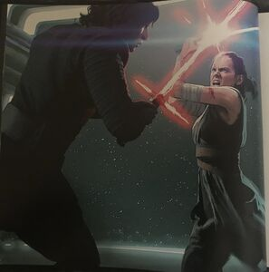 Rey and Kylo Hangar Bay fight art