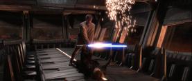Darth Vader midair