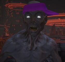 Dex Saints Row gat out of hell close up