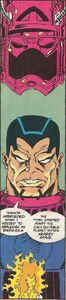 Unhelmeted Galactus from Silver Surfer Vol 3 51