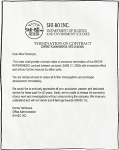 Penelope's Termination of Contract
