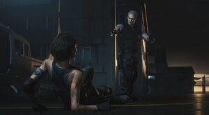 RE3make - Nikolai tosses Jill the vaccine
