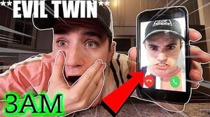 (Insane) FACETIMING MYSELF AT 3AM CHALLENGE (EVlL STROMEDY TWIN)