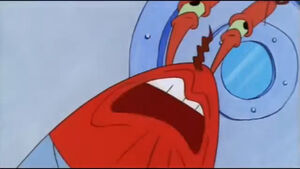 Mr Krabs crying