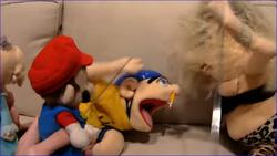 Nancy beating Jeffy