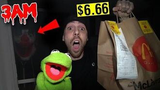 DONT SPEND $6.66 ON UBER EATS AT 3AM WITH KERMIT THE FROG!! *CRAZY UBER DRIVER CAME TO MY HOUSE*