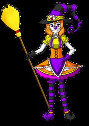 Maki halloween clown witch by tf circus-d9k8qs9