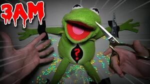 (SCARY) CUTTING OPEN EVIL KERMIT THE FROG AT 3AM!! *WHAT'S INSIDE KERMIT THE FROG*