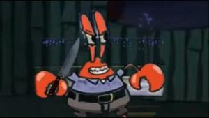 Mr Krabs evil grin