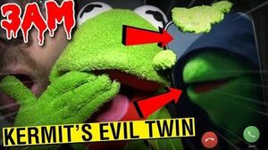 (SCARY) KERMIT THE FROG CALLING EVIL TWIN ON FACETIME AT 3AM!! *DO NOT FACETIME YOURSELF AT 3AM*