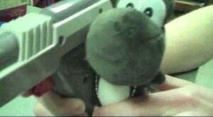 Black Yoshi and his gun