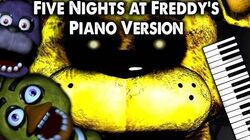 Five Nights at Freddy's Song (Piano Version) - The Living Tombstone