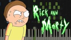 Evil Morty's Theme - Rick and Morty Piano Tutorial Synthesia & Sheets