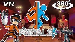 Portal 2 - 360° Video - Want You Gone Acapella