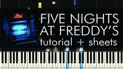 The Living Tombstone - Five Nights at Freddy's - Piano Tutorial Sheets