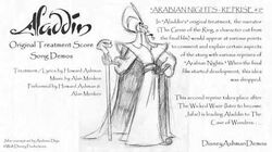 Arabian Nights - Reprise 2 - Howard Ashman Demo