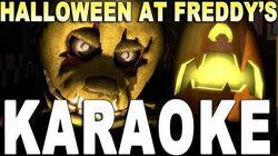 "FNAF Halloween Song KARAOKE! ""Halloween at Freddy's"" Instrumental (Lyrics on screen)"