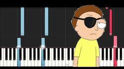 Evil Morty Theme- For The Damaged Coda (Piano Tutorial)
