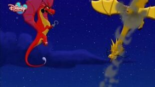 Captain Hook Dragon and Gold Dragon