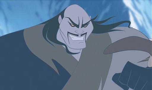 Shan Tu from Disney's Mulan. A classic movie villian.