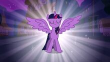 Twilight Sparkle gets her wings for the first time