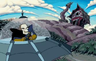 Count Nefarious in the Malevolator