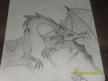 The PageMaster Dragon by VampireByMoonlite